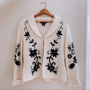 Vintage Wool Sweater Cardigan
